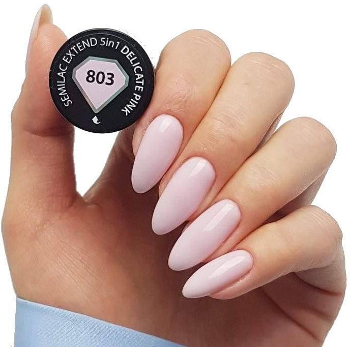 Semilac Baza Extend 803 Top Kolor 5w1 Delicate Pink 7ml