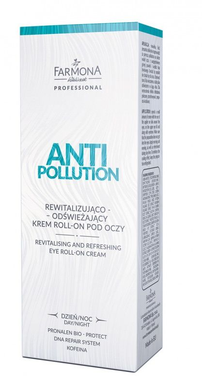 ANTI POLLUTION Rewitalizujuaco - odswieżajacy krem roll - on pod oczy 15ml