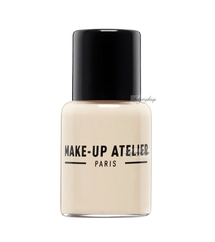 Make-Up Atelier Paris - Waterproof Liquid Foundation - Fluid / Podkład WODOODPORNY - 5ml - 5FLW1Y - VANILLA