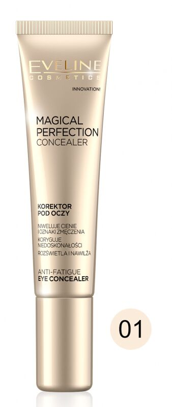 Eveline Cosmetics - MAGICAL PERFECTION CONCEALER - Korektor pod oczy - 01 LIGHT