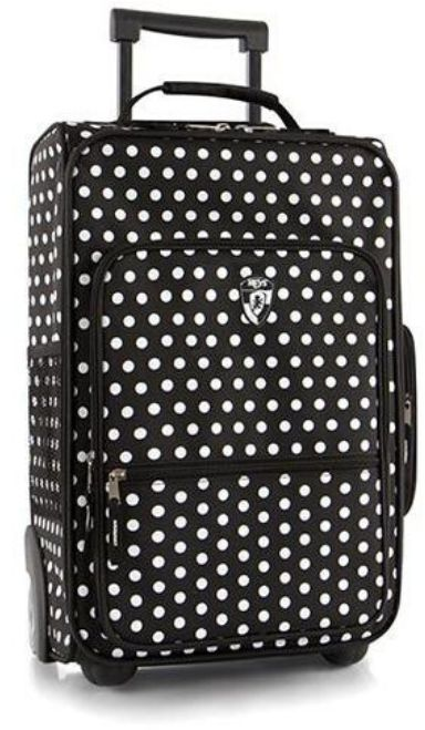 "Dziecięca walizka Heys Kids Softside Luggage 18"" - black/white dots - black/white dots"