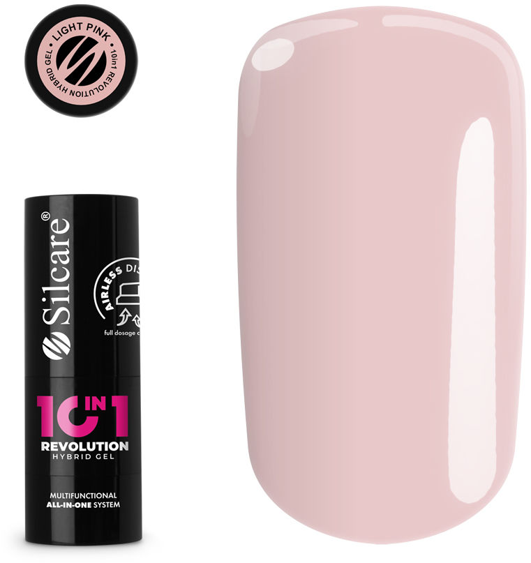 10in1 Revolution Airless Lakier Hybrydowy Light Pink 15 g
