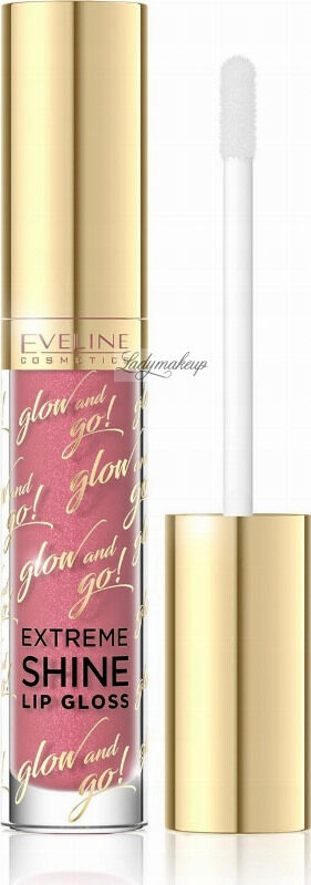 EVELINE - Glow and Go! Extreme Shine Lip Gloss - Błyszczyk do ust - 04 - TRENDY CORAL