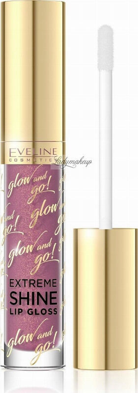 EVELINE - Glow and Go! Extreme Shine Lip Gloss - Błyszczyk do ust - 02 - CANDY PINK