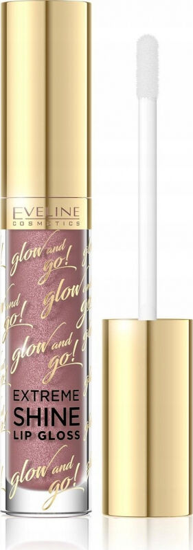 EVELINE - Glow and Go! Extreme Shine Lip Gloss - Błyszczyk do ust - 05 - SPARKLING CARAMEL