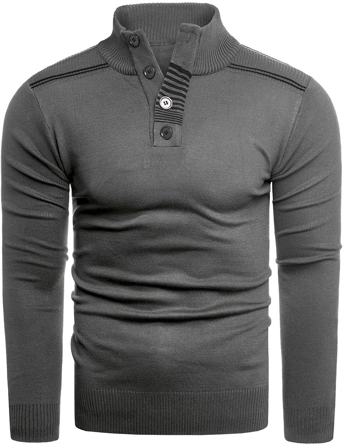 Sweter H2051 - antracyt