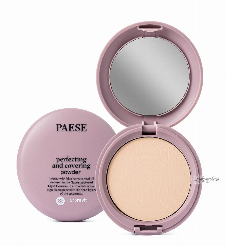 PAESE - Nanorevit - Perfecting and Covering Powder - Matujący puder do twarzy - 03 SAND
