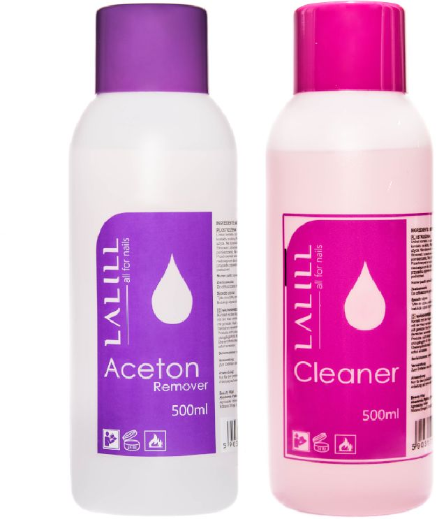 LALILL zestaw 2x 500ml CLEANER + ACETON remover
